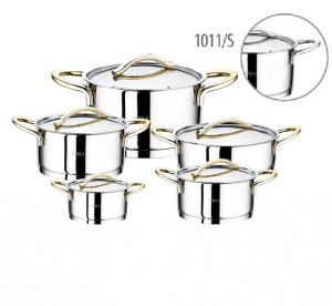 Набор кастрюль нержавеющая сталь для индукции из 10 предметов 1011-S