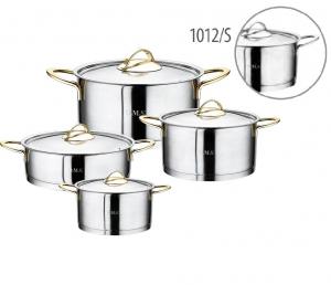 Набор кастрюль нержавеющая сталь для индукции из 8 предметов 1012-S