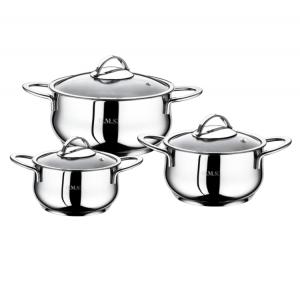 Набор кастрюль нержавеющая сталь для индукции из 6 предметов 1032