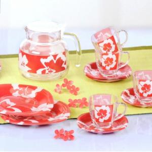Чайный сервиз Luminarc Carine Takume Rouge 22 предмета 6 персон