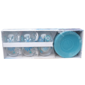 Чайный сервиз Luminarc Graphic Flowers Blue 12 предметов 6 персон