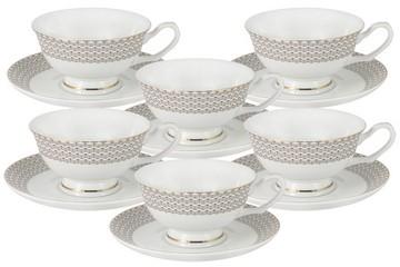 Набор 12 предметов Скандинавия: 6 чашек + 6 блюдец