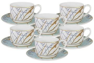 Набор 12 предметов Марсель: 6 чашек + 6 блюдец