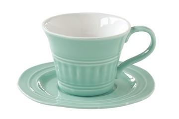 Чашка с блюдцем (мятный) Abitare без инд.упаковки