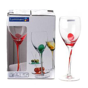 Фужеры для вина Luminarc Drip Rouge 4 шт 270 мл