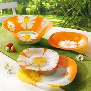 Столовый Сервиз Luminarc Paquerette Melon Carine 19 предметов на 6 персон
