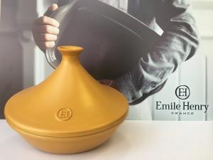 Тажин керамический Emile Henry золотой 2л 27см, лимитированный выпуск