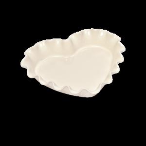 Форма для пирога «Сердце» Emile Henry, цвет: крем