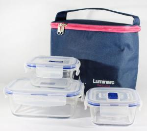 Набор котейнеров Pure Box Rect Blue 3 штуки + термосумка