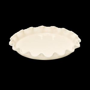 Форма для фруктового пирога 32,5 см Emile Henry, цвет: крем