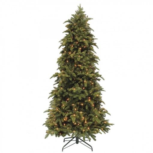 Ель Нормандия стройная 185 см темно-зеленая с лампами Triumph Tree