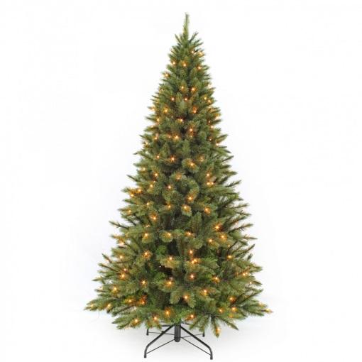 Ель Лесная красавица стройная зеленая Triumph Tree 215 см 256 ламп