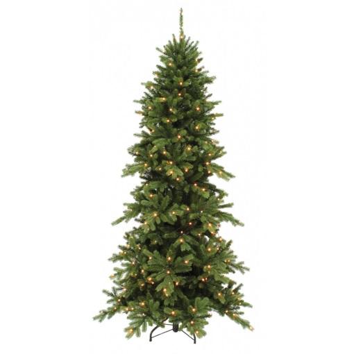 Сосна Изумрудная 215 см зеленая с лампами Triumph Tree