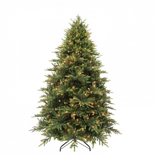 Ель 230 см Королевская премиум зеленая с лампами Triumph Tree