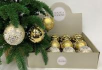 Набор Новогодних ШАРОВ 12 штук золото