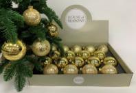 Набор Новогодних ШАРОВ 18 штук золотой